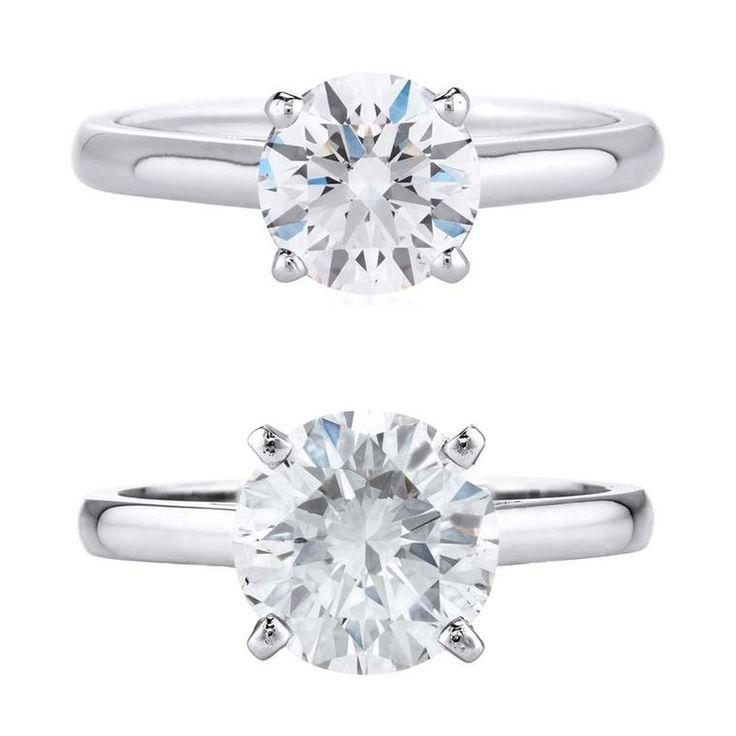Вы должны купить 1 карат бриллиантовое обручальное кольцо или кутить по 2 карата?