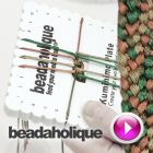 Tutorial - Videos: How to Make a 10-Warp Flat Kumihimo Braid   Beadaholique