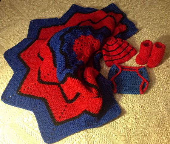 Spiderman Blanket Knitting Pattern : 31 best images about Crochet-Kids Afghans on Pinterest Free pattern, Lego a...
