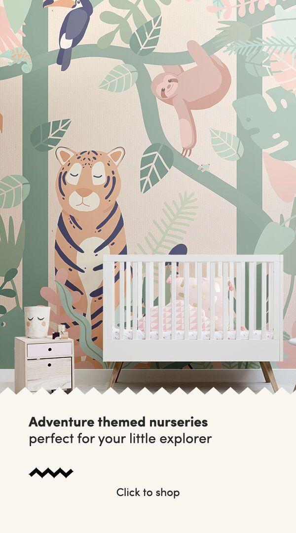 Kids Jungle Animal Friends Wallpaper Mural Nursery Wallpaper