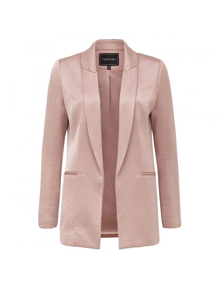 Layer up in style with our Kirsty satin blazer, perfect to add a little polish to any ensemble.