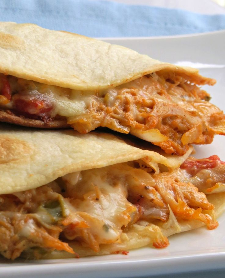 Cheesy Chicken Quesadillas : This cheesy chicken quesadillas recipe is creamy and super easy to make with one extra special delicious ingredient included.
