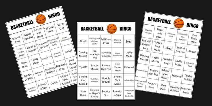 March Madness Party Games Basketball BINGO in 2020