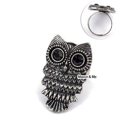 Korean Version Of The Retro Fashion Personality The Owl Ring General. Small and catchy. REPIN if you like it.😍 Only 23.5 IDR