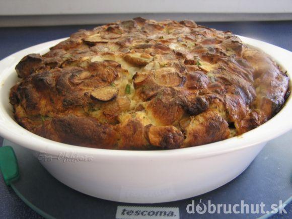 Fotorecept: Hubník - hubový koláč