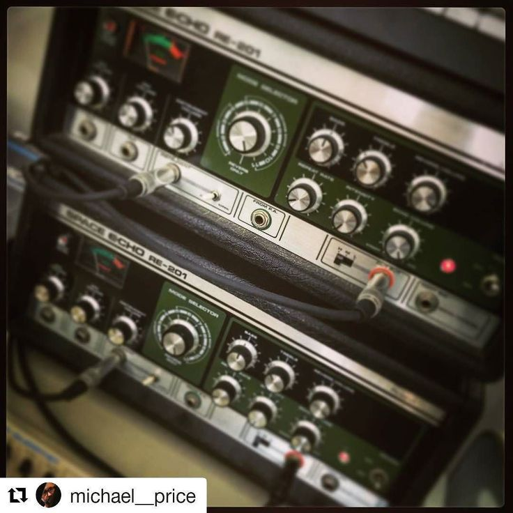 We've got no less than three different RE-201s available on the site right now so it seemed like an appropriate time for a Throwback Thaturday to the time piano maestro Michael Price needed closely matched stereo Space Echoes for his remarkable Piano Diary project (30 improvised pieces recorded at the start of each day - head to michaelpricemusic.com to find out more). And should you require your own stunning-sounding matched brace of 201s then of course get in touch.  #Repost…