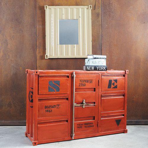 miroir container mirrors pinterest miroirs volont et meubles. Black Bedroom Furniture Sets. Home Design Ideas