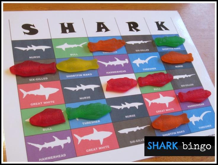 Relentlessly Fun, Deceptively Educational: SHARK bingo game [free printable]