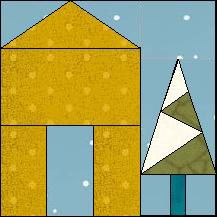 Block of Day for December 29, 2016 - Barn and Christmas Tree