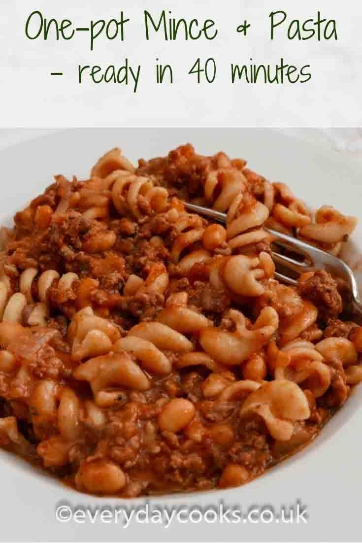 One Pot Mince And Pasta Recipe Pasta Mince Recipes Minced