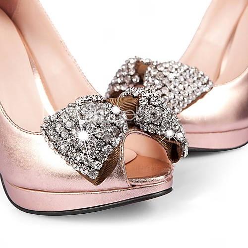 Super cute rhinestone #weddingshoes! I love the chocolate and light pink!