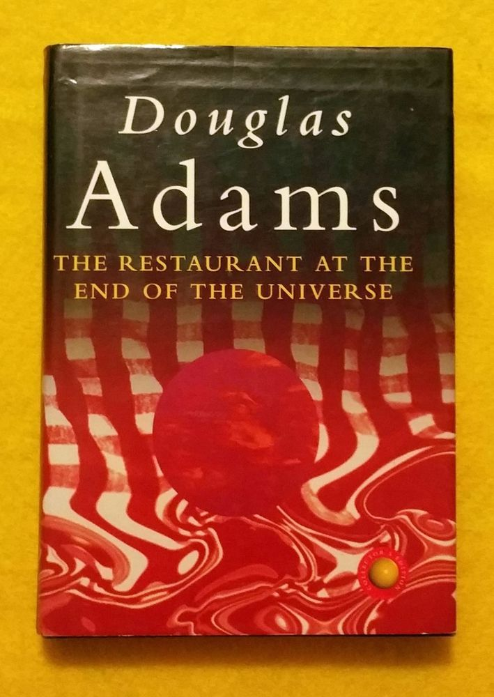 SIGNED! The Restaurant at the End of the Universe by Douglas Adams Hardback 1994