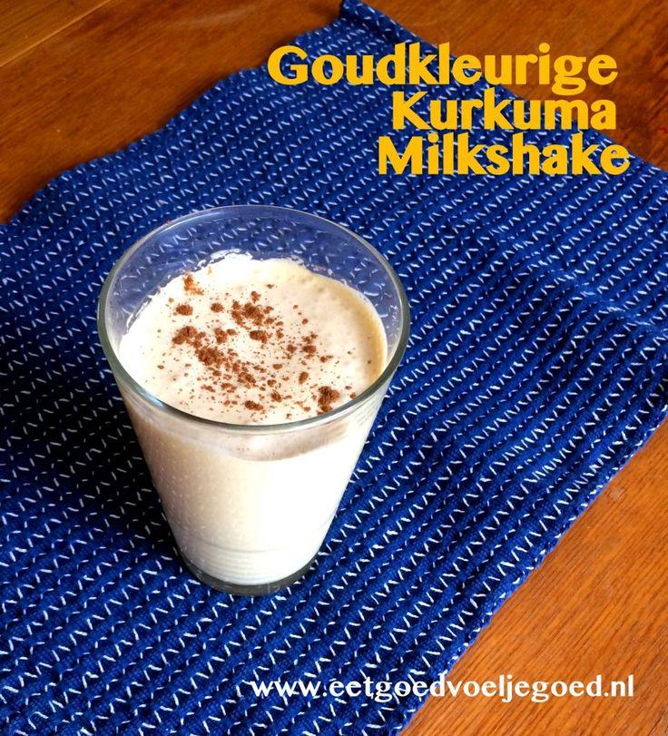 Maak deze goudkleurige kurkuma milkshake een vast onderdeel in je ontbijtrepertoire. Hij is niet alleen super gezond vanwege de kokosolie en kurkuma, maar vult ook er goed!