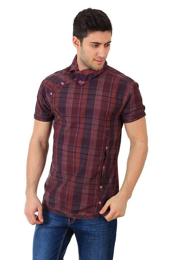 Yaka düğmeli erkek gömlek