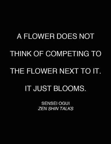 sensei ogui quote ~ flowers + love blog