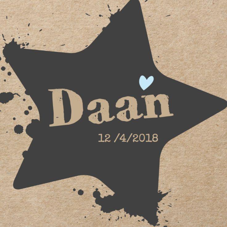 Geboortekaartje Daan Kraft - Geboortekaartjes - Kaartje2go