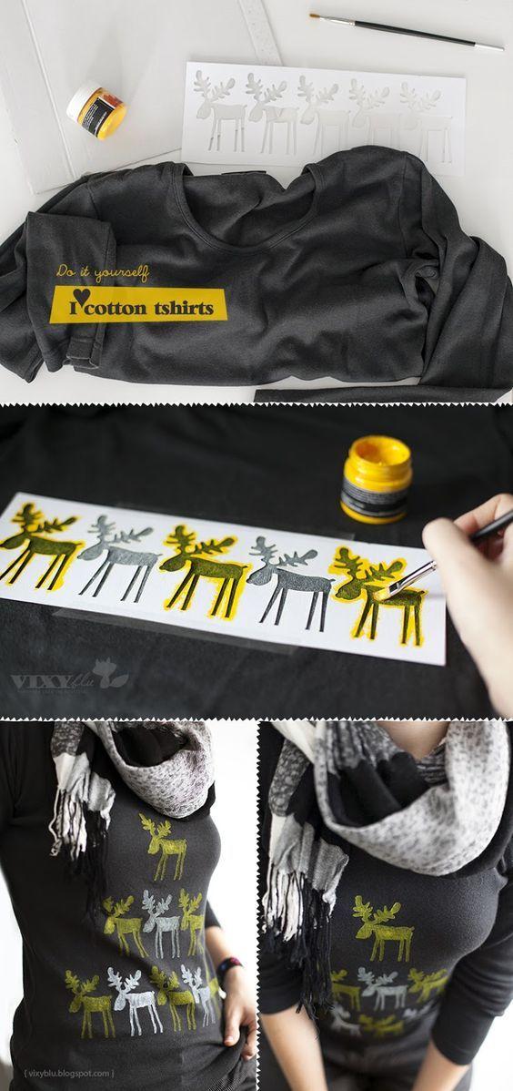 Vixyblu - handmade creative boutique: I ♥ Christmas cotton tshirts: