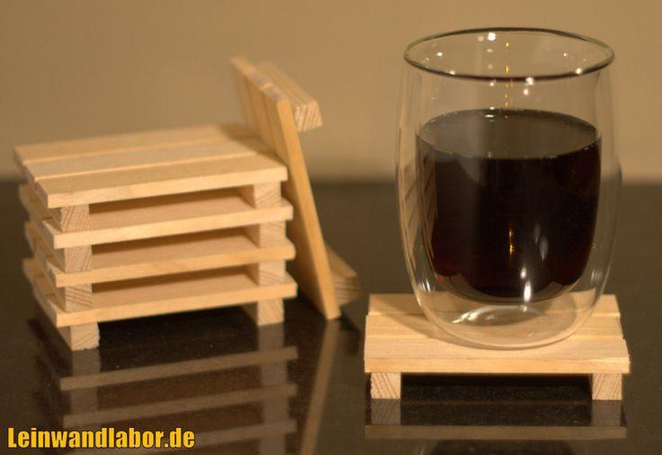 Untersetzer - Mini Holz Palette Untersetzer - ein Designerstück von Leinwandlabor bei DaWanda