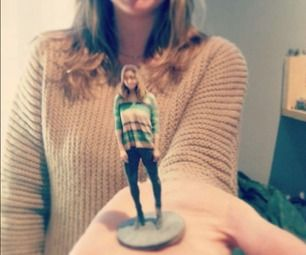 A 3D scan from kinect. You are the model.