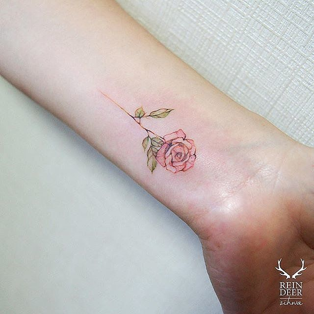 This would be the rose I'd get in commemoration of my Mamaw, who is now my angel, and has been since May 2015.  30 Wrist Tattoos to Inspire Your Next Dainty Piece of Ink