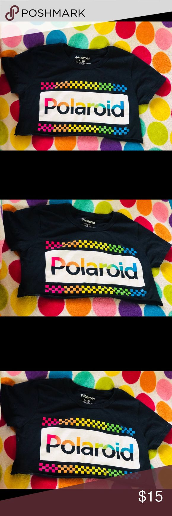 Cropped Polaroid crop top Size small. Length: 13 inches. Brand new. Never worn. ...