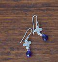 Silver & Amethyst earrings by Met passion design