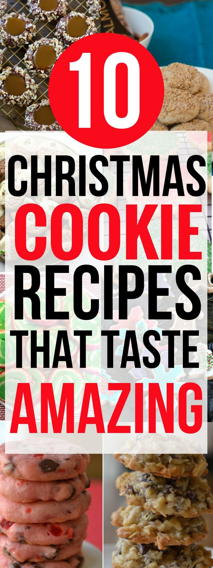 These 10 christmas cookie recipes are THE BEST! I'm so glad I found these christmas cookies recipes, now my family and I can bake them together during the holidays! Pinning for sure! #christmas #christmascookies #desserts #christmastradition