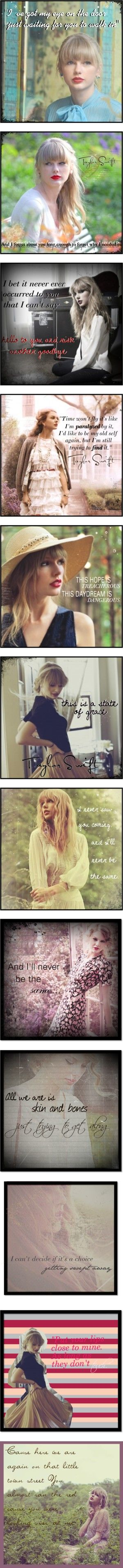 """Taylor Swift Lyrics"" by ditzy22 ❤ liked on Polyvore"