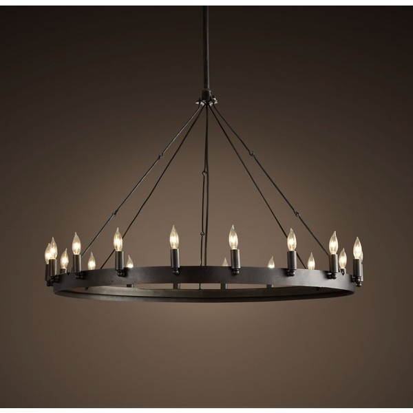 Arteriors Geoffrey Industrial Loft Rustic Wood Ring: 17 Best Images About Ring Chandelier On Pinterest