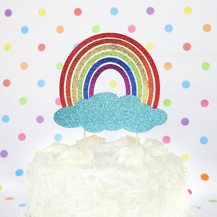 Rainbow Cake Topper Smash Cake Topper Rainbow Birthday Decorations Rainbow Baby Cake Topper Rainbow Birthday Topper Glitter Cake Topper by PGPaperDesign on Etsy