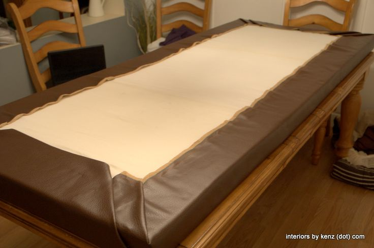 no-sew-cushion using HOT GLUE and clearance camping bed foam pads! Priced Way less than upholstery foam!