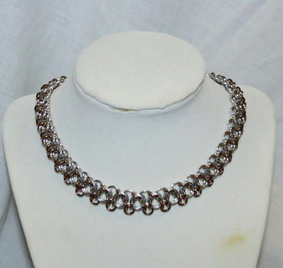 Bronze Chainmaille Necklace/Not Tao Linear