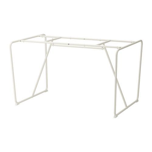 "BACKARYD Underframe IKEA | could add wood top and still have 10"" of overhang on each side"