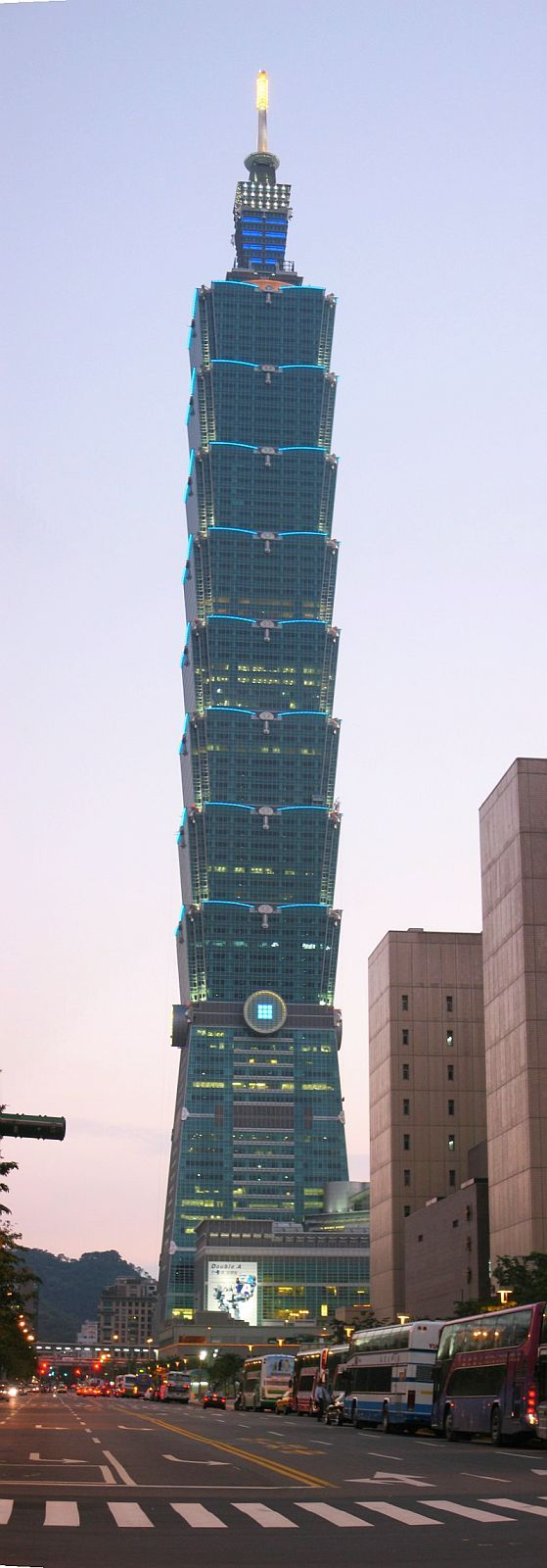 Taipei 101 (Taipei, Taiwan). Tallest building in the world, 2004-2010.