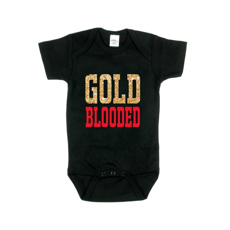... Sold nfl toddler boys jersey san francisco 49ers navorro bowman gold  blooded onesie san francisco 49ers 49er . ... b325568a6