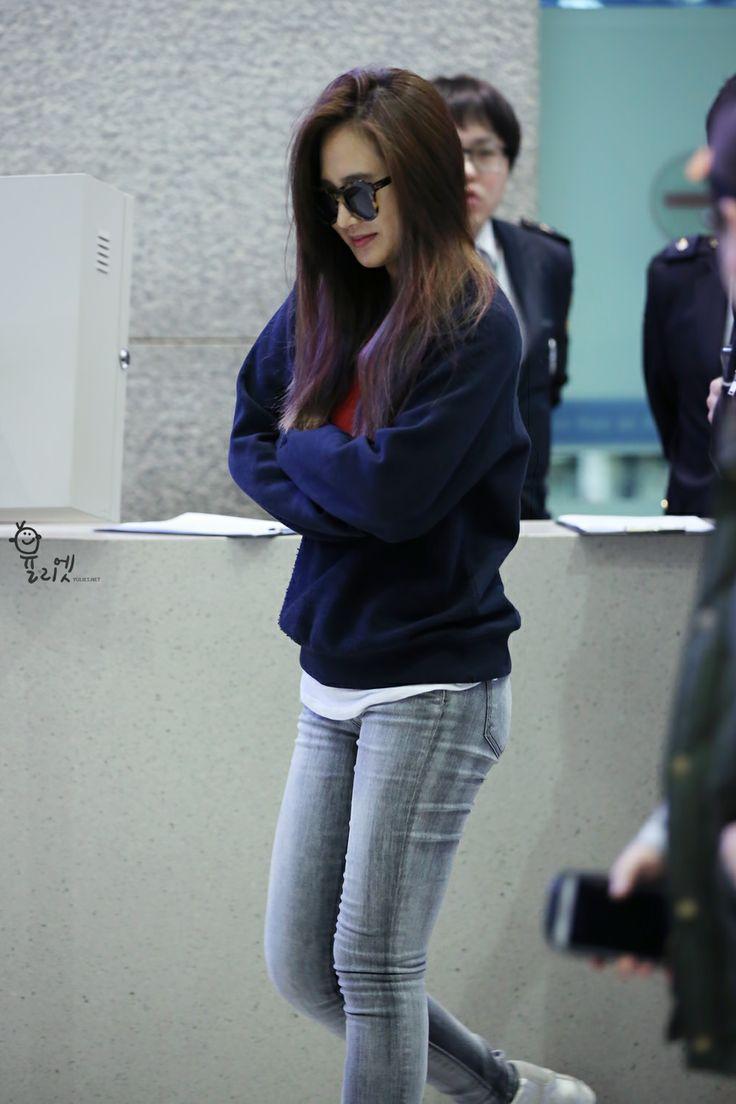 snsd yuri airport fashion 2014 snsd airport fashion