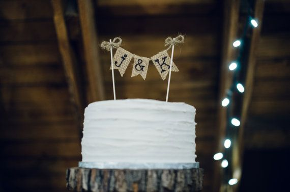 Rustic Country Barn Wedding Cake Topper by TheCraftandCupboard