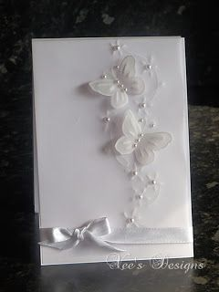 White Vellum Butterfly Card - bjl