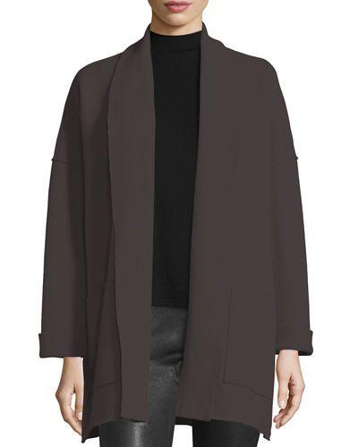 Boiled Wool Kimono Jacket, Petite