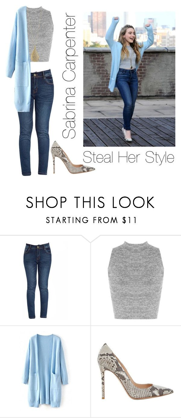 """Sabrina Carpenter Steal Her Style Goals "" by trendy-and-chic ❤ liked on Polyvore featuring WearAll, Gianvito Rossi and Karen Kane"