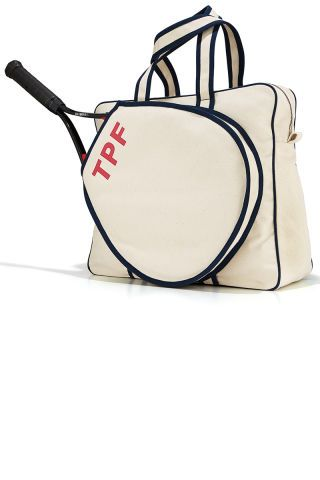 Try these gifts for your most sophisticated friends: Parker Thatch Steamer Initial Tennis Bag.