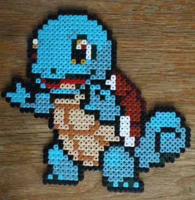 Pokemon - Squirtle bead sprite by strepie93.deviantart.com on @deviantART
