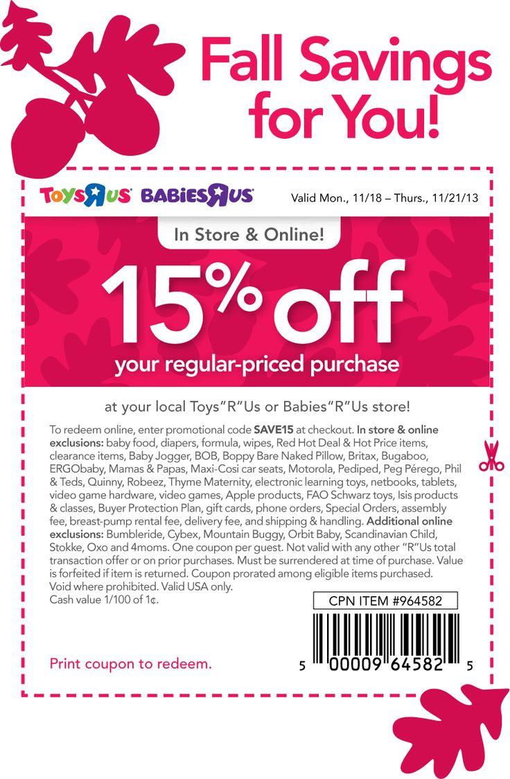 Baby R Us Printable Coupon : printable, coupon, Pinned, November, 18th:, Babies, Online, Promo, SAVE15, #coupon, Coupo…, Coupon, Apps,, Printable, Coupons,, Grocery, Coupons