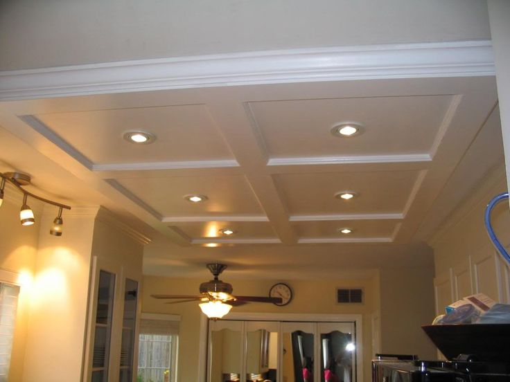 Custom Coffered Kitchen Ceiling w/ Spotlights - 90 Best Ceiling Idias Images On Pinterest