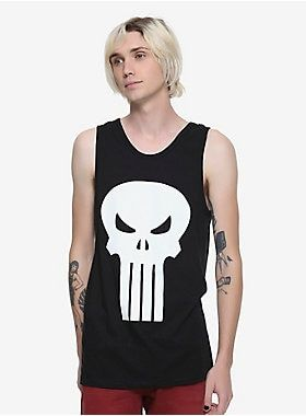 c166bad0 Marvel The Punisher Logo Tank Top in 2019 | Marvel Comics | Graphic ...