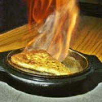 Greek -flaming- Cheese - Saganaki Recipe