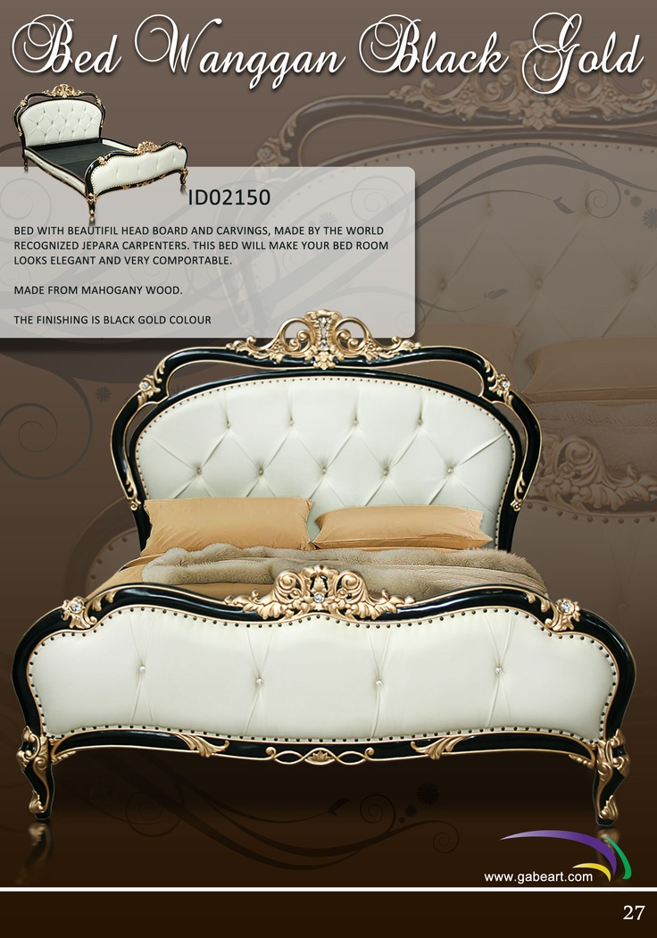 Presented this product only for people who care for they beauty sleeping , It is made from solid wood with talent carpenter from Jepara, finishing color with Black and Gold for carving ornament
