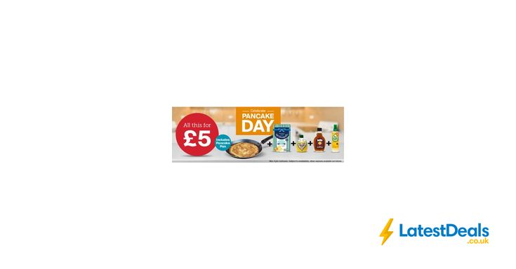 Iceland Pancake Day Offer Pan+Pancake Mix+Lemon+Syrup, £5