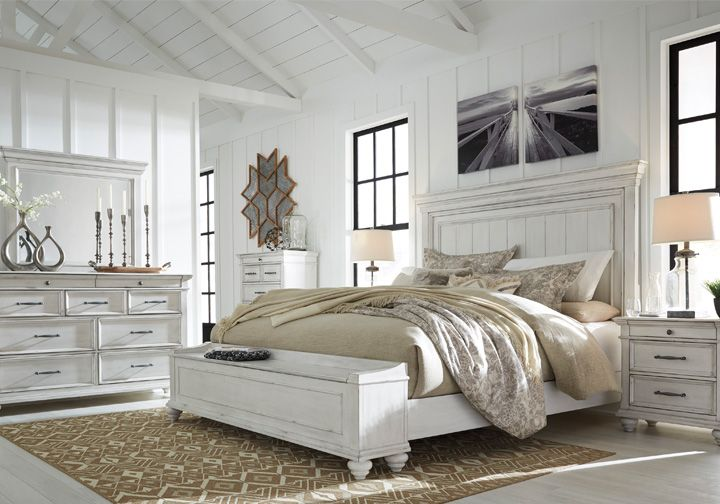 Kanwyn Whitewash King Panel Storage Bedroom Set Lexington Overstock Warehouse In 2020 King Bedroom Sets Bedroom Furniture Sets Upholstered Bedroom Set