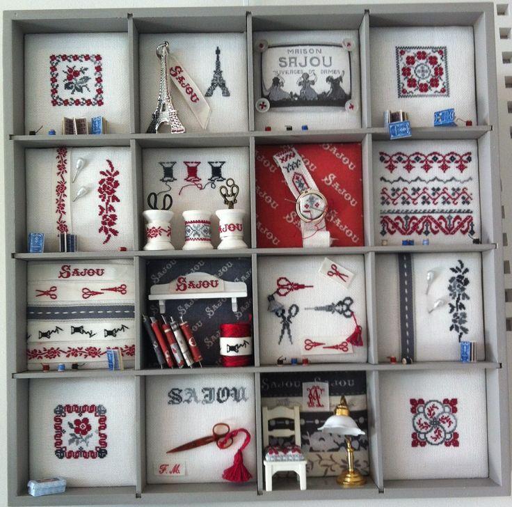 Créa'Fil : exposition # les casiers2